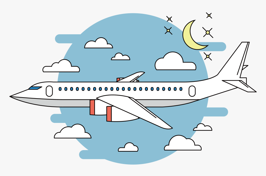 Clip Art Airplane Flight Vector Night Cartoon Transparent Plane