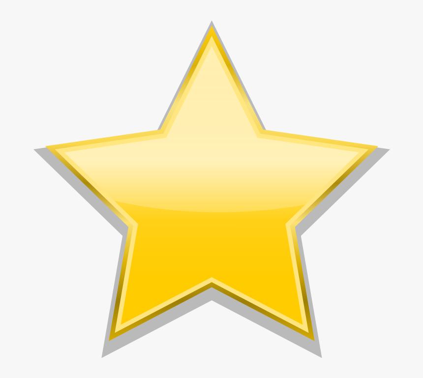 Gold Star Png - Christmas Vector Flat Design, Transparent Png, Free Download