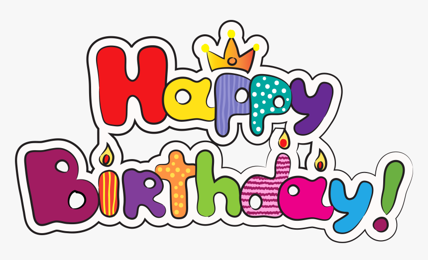 Happy Birth Png - Happy Birthday Word Clipart, Transparent Png, Free Download