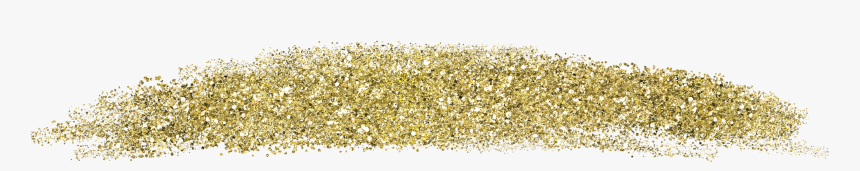 Fun And Decorative Gold Glitter Heart Swoosh Embellishments - Eye Shadow, HD Png Download, Free Download