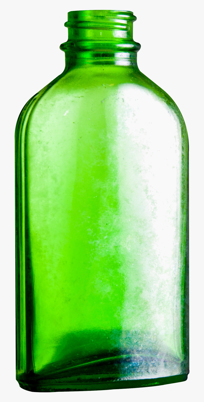 Empty Glass Bottle Png Image - Green Glass Bottle Png, Transparent Png, Free Download