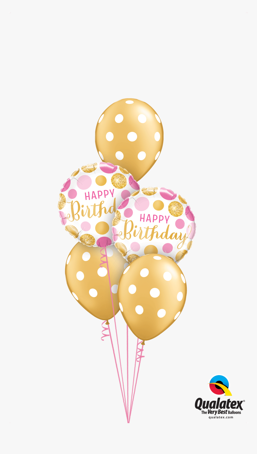 Transparent Helium Clipart - Pink And Gold Balloons Png, Png Download, Free Download
