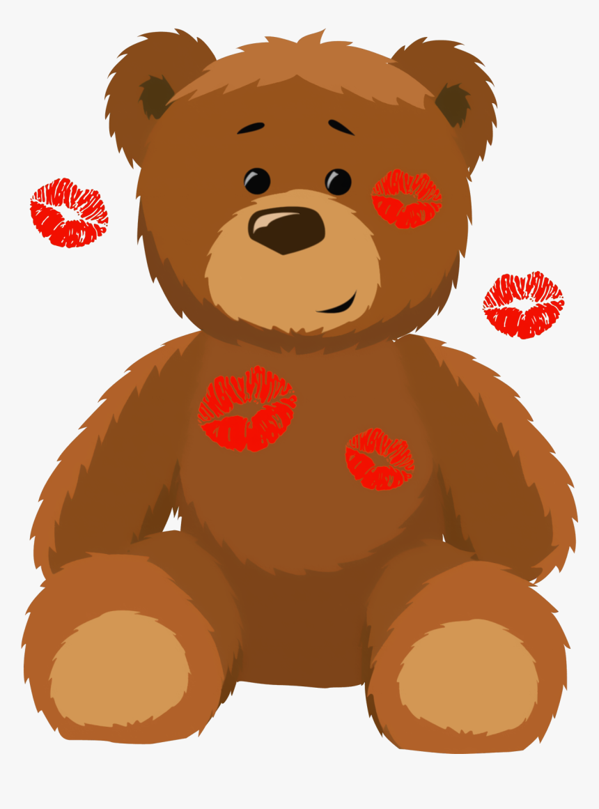 Valentines Day Teddy Bear Clipart - Transparent Background Teddy Bear Clip Art, HD Png Download, Free Download