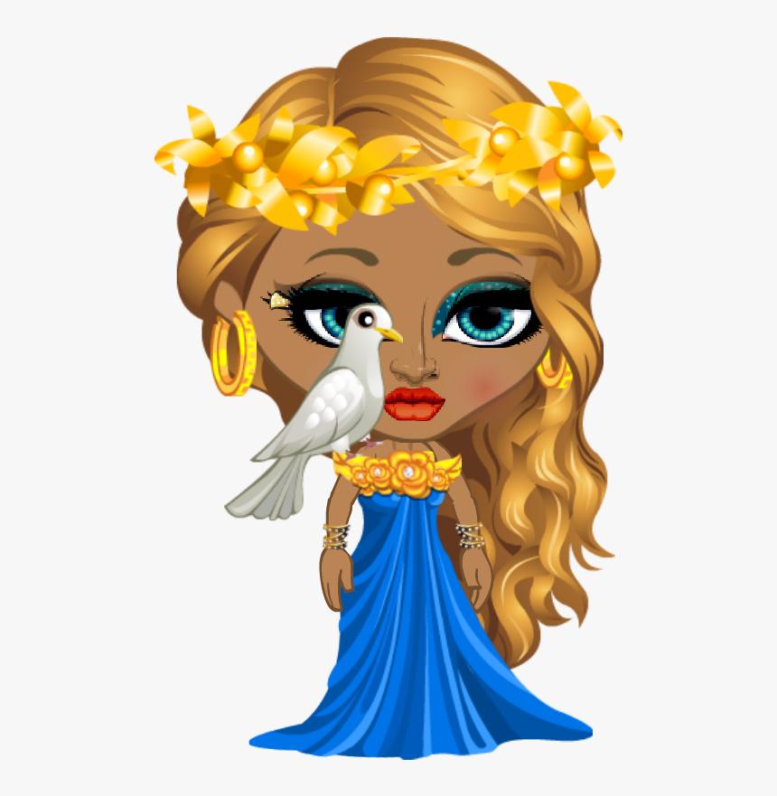 Greek God Goddess Aphrodite Cartoon Hd Png Download Kindpng