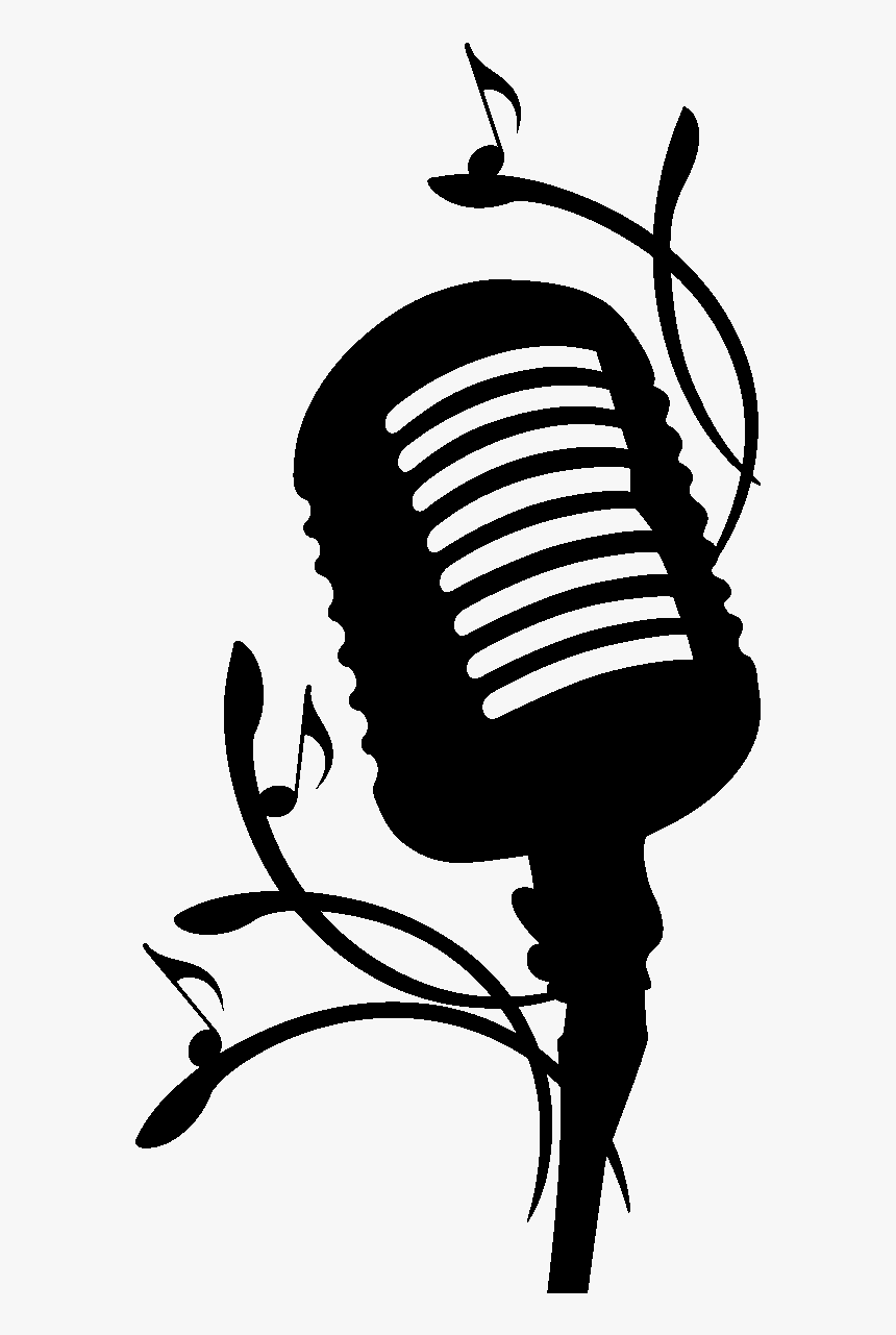 10 Person With Microphone Silhouette (PNG Transparent) | OnlyGFX.com