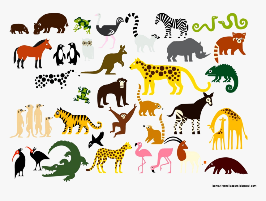 Animal Zoo Animals Clipart Transparent Png Animals In The Zoo Clip Art Png Download Kindpng