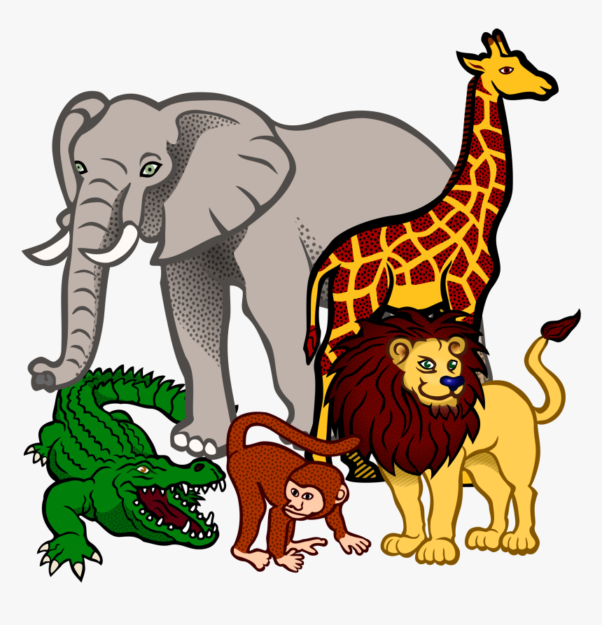 Animals Clipart Transparent Animal Cliparts Free Download - Wild Animals Clipart Png, Png Download, Free Download