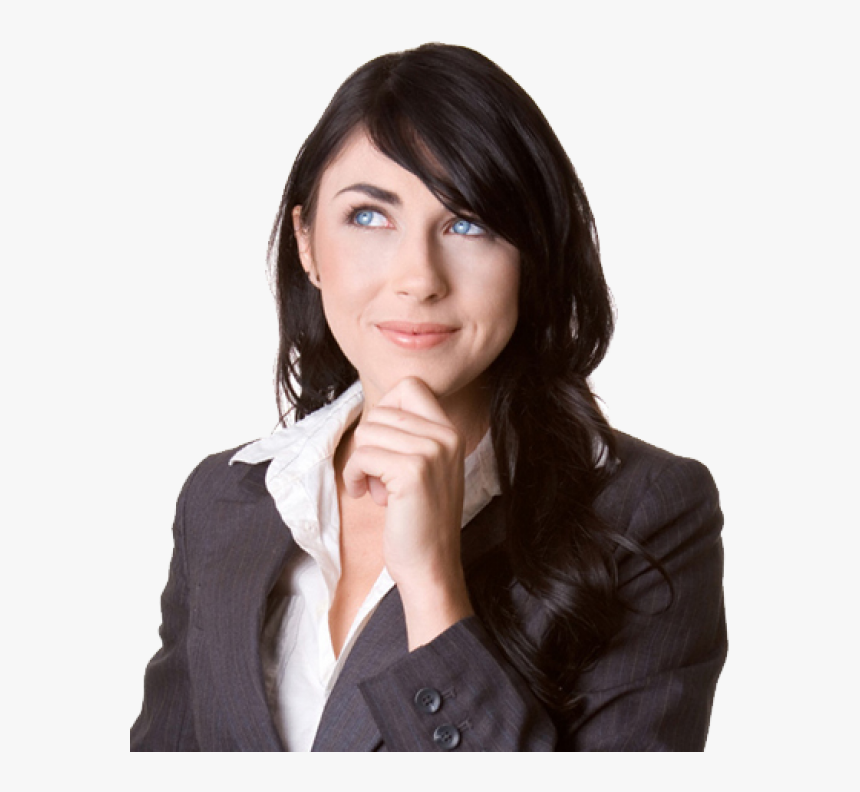 Thinking Woman Png Free Download - Thinking Woman Png, Transparent Png, Free Download