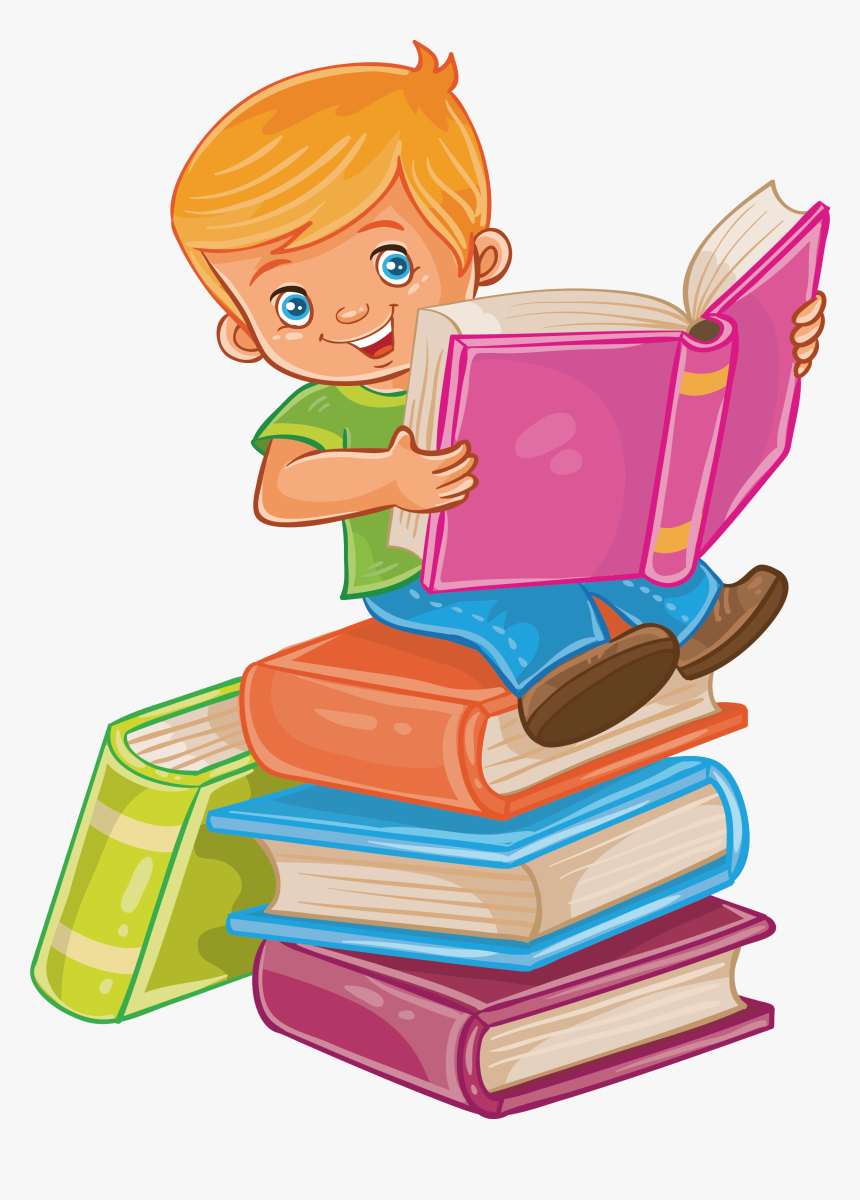 Child Reading A Book Clipart - Child Reading Book Clip Art, HD Png Download, Free Download