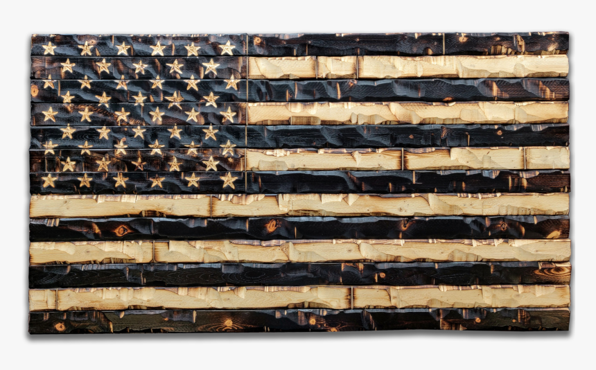 "Rustic Wood Burned American Flag 59x32""  Class=""lazyload - Wood American Flag, HD Png Download, Free Download"