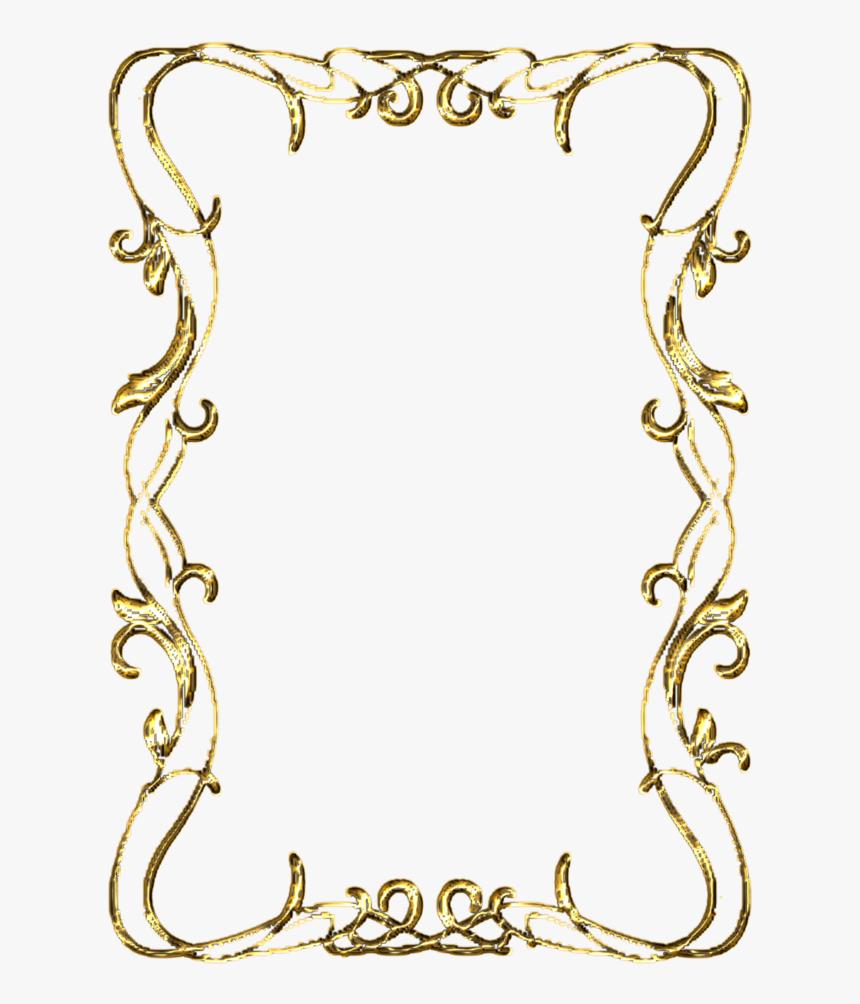 Ornate Corners Frame Gold Clipart Kid Gold Formal Certificate - Gold Picture Frame Png Transparent Background, Png Download, Free Download