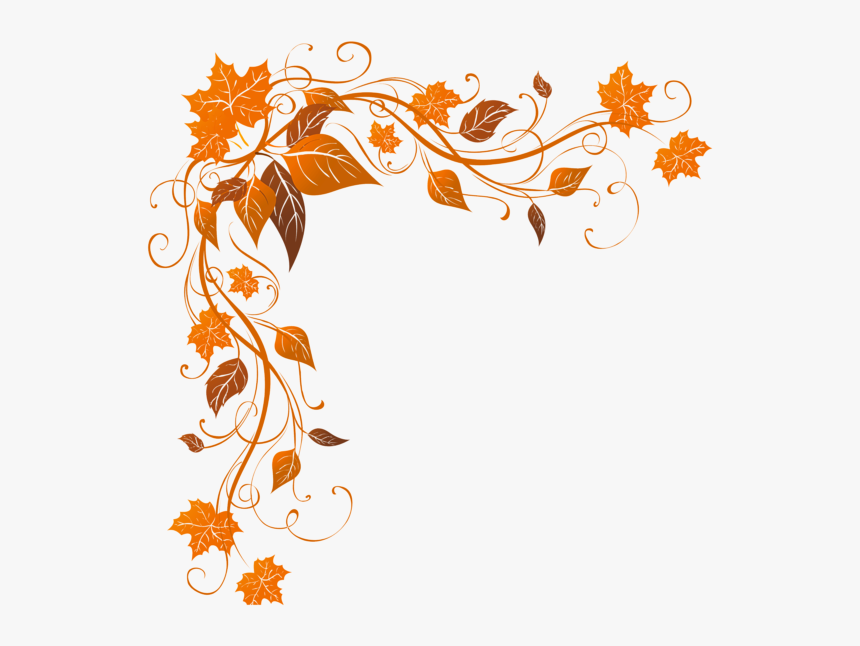 Fall Leaves Corner Border, HD Png Download, Free Download