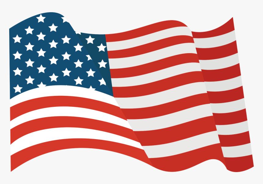Flying Us Flag Png, Transparent Png, Free Download