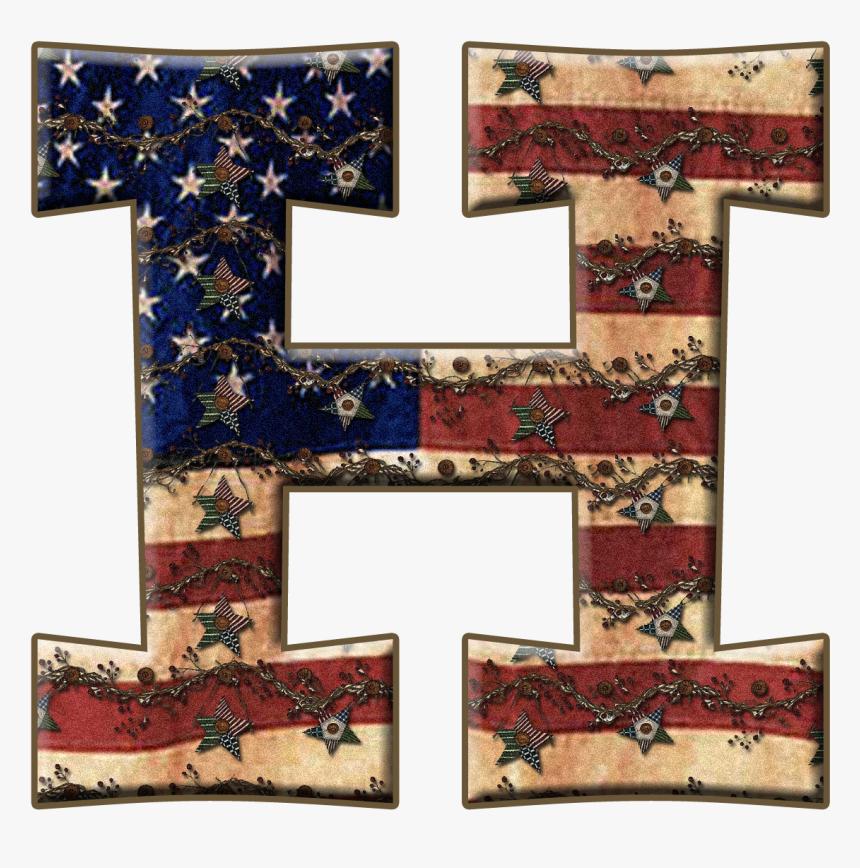 Alfabeto Con Bandera De Usa Vieja - Big Letter B Transparent Background, HD Png Download, Free Download