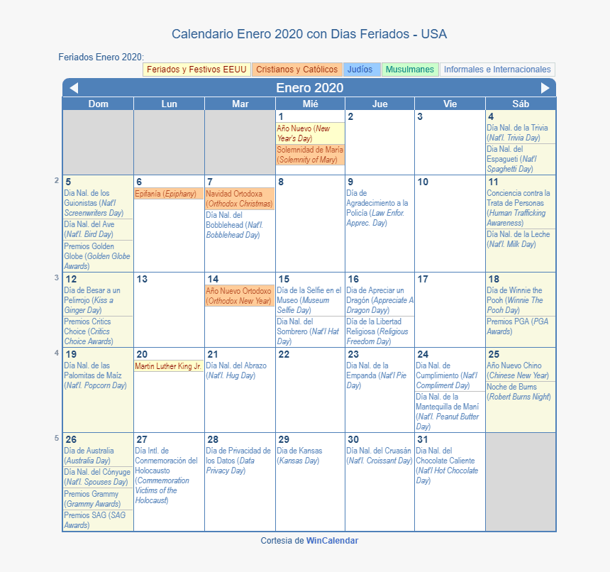 January 2019 Calendar With Holidays, HD Png Download, Free Download