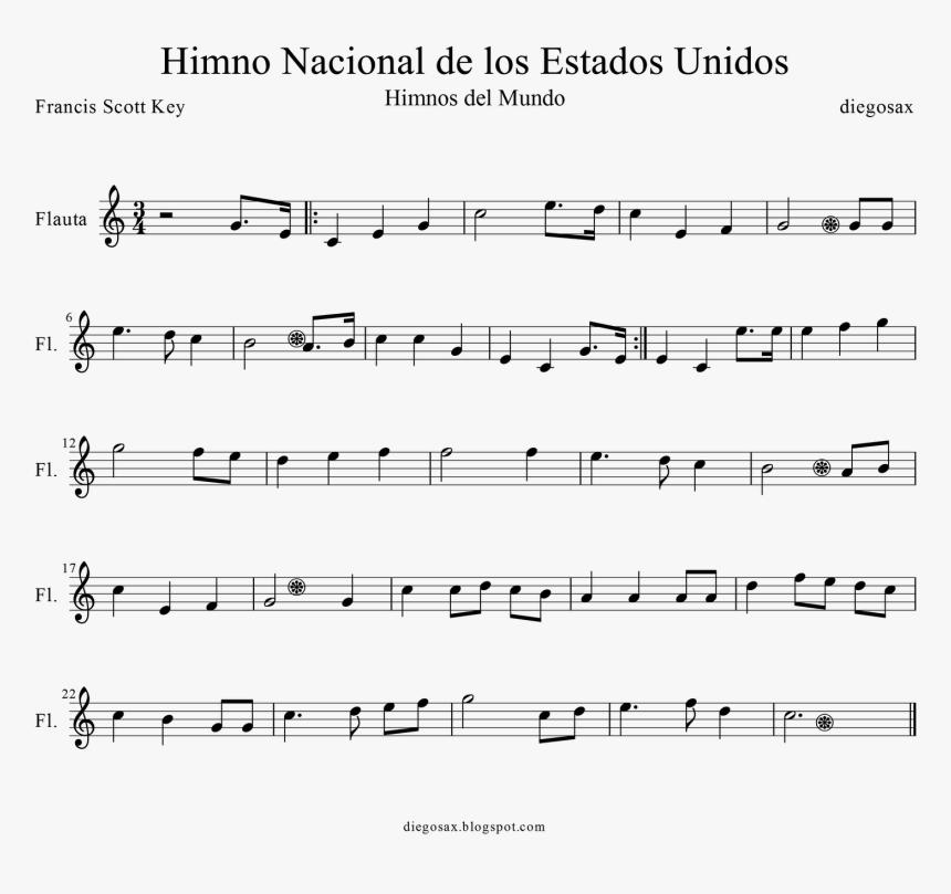 Partitura Del Himno Nacional De Los Estados Unidos - Star Spangled Banner Clarinet Sheet, HD Png Download, Free Download