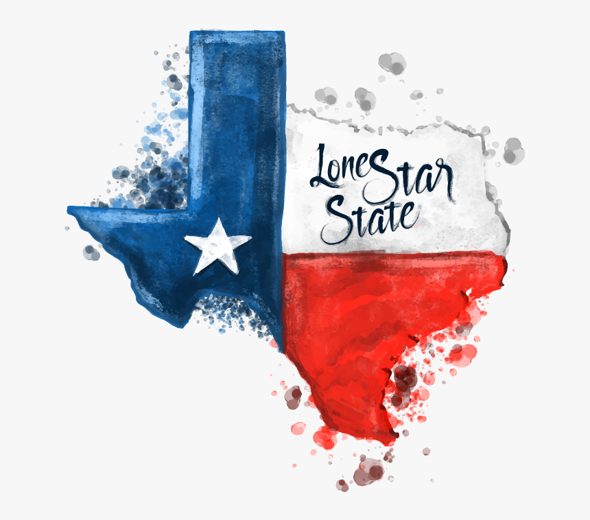 Texas Map With Texas Flag Inside, HD Png Download, Free Download