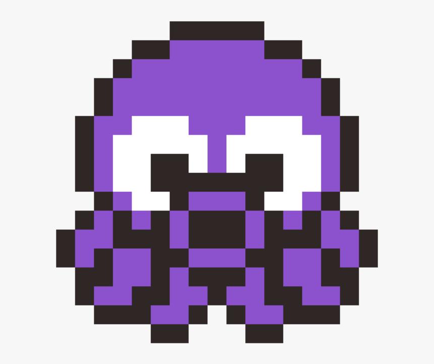 Square,symmetry,purple - Pacman Ghost Pixel Art, HD Png Download, Free Download