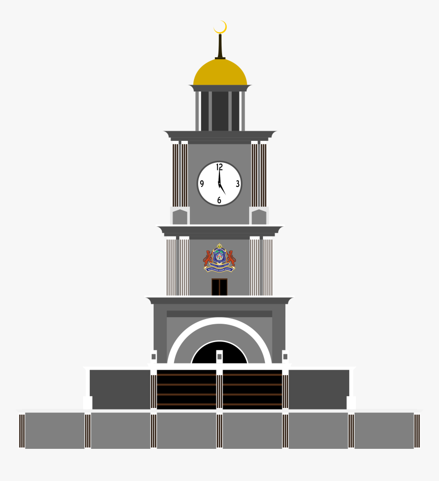 Collection Of Free Clock Vector Tower - Clock Tower Johor Bahru, HD Png Download, Free Download