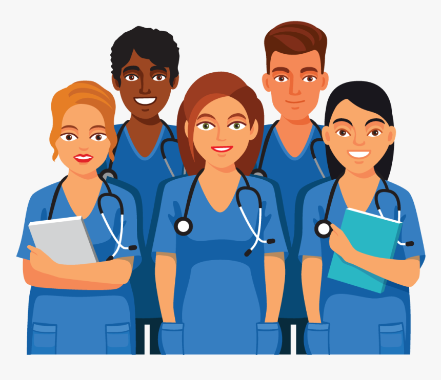 Nursing Clipart Nurse Aide Animated Group Of Doctors Hd Png Download Kindpng