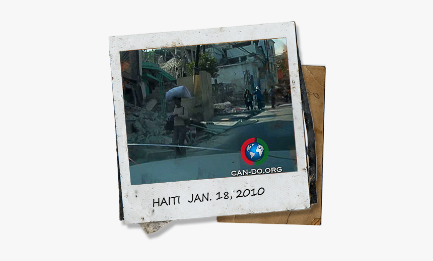 Polaroid Of Haitian Street - Feliz 2012 Com Animais, HD Png Download, Free Download