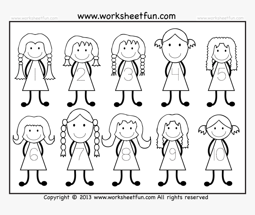 Number Tracing - Writing Numbers 1 10 Worksheets Kindergarten, HD Png  Download - Kindpng
