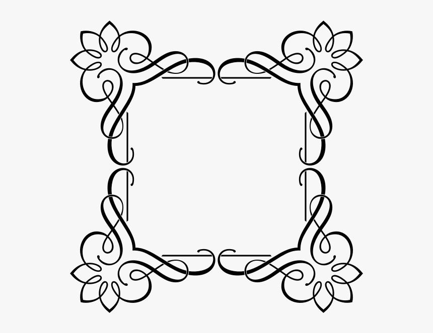 Elegant Floral Frame-1576601566 - Fancy Border Transparent Corner, HD Png Download, Free Download