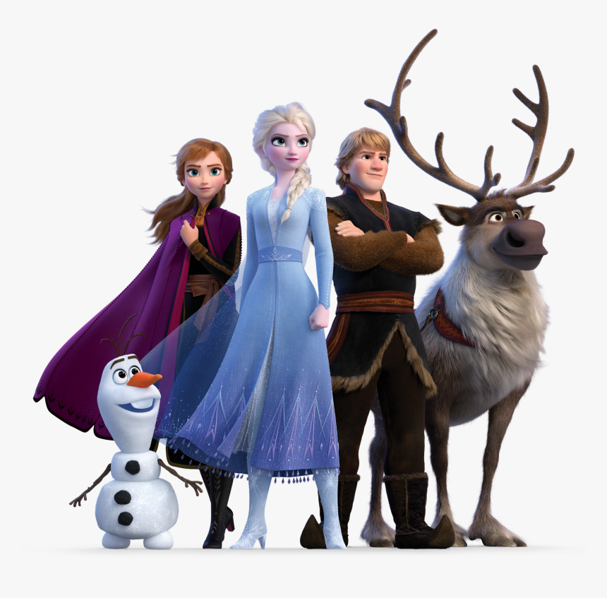 Frozen 2 Clipart Png - Elsa Anna Kristoff Olaf & Sven Frozen 2, Transparent Png, Free Download
