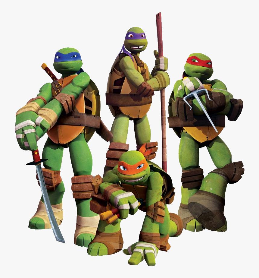 Ninja Tutles Png Image - Raphael Leonardo Michelangelo Donatello, Transparent Png, Free Download