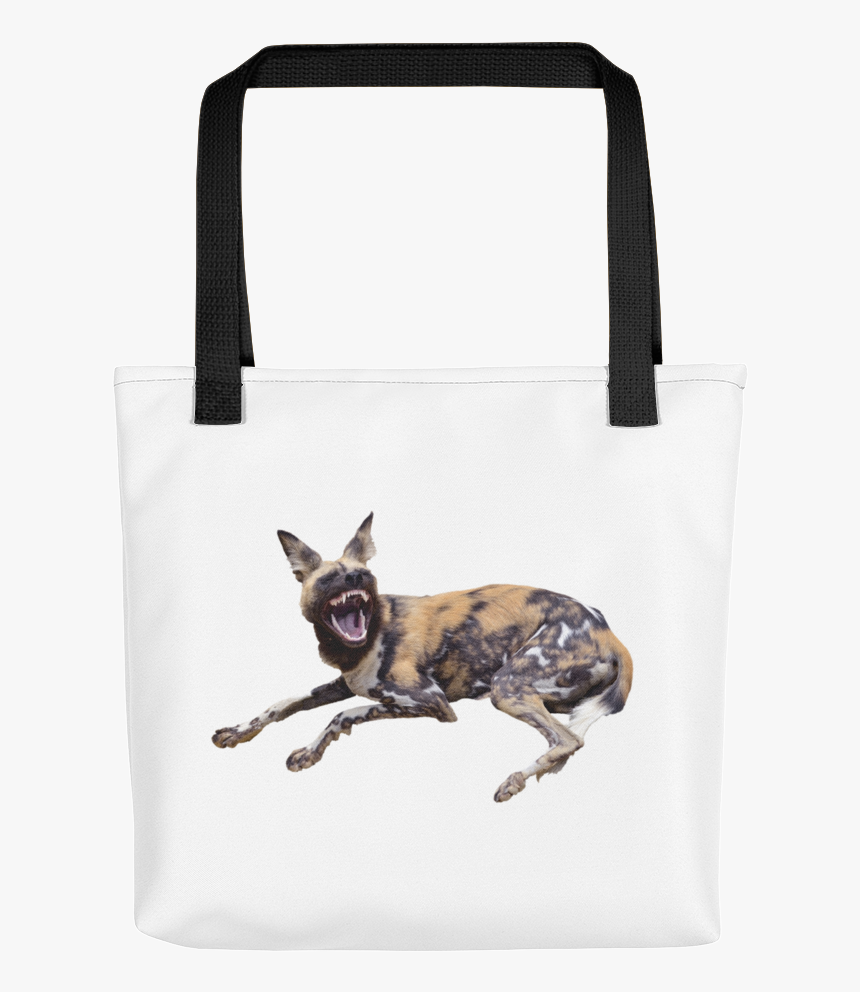"""African Wild Dog Print Tote Bag""""  Class=""""lazyload Lazyload - Happy April Fools Day Dog, HD Png Download, Free Download"""