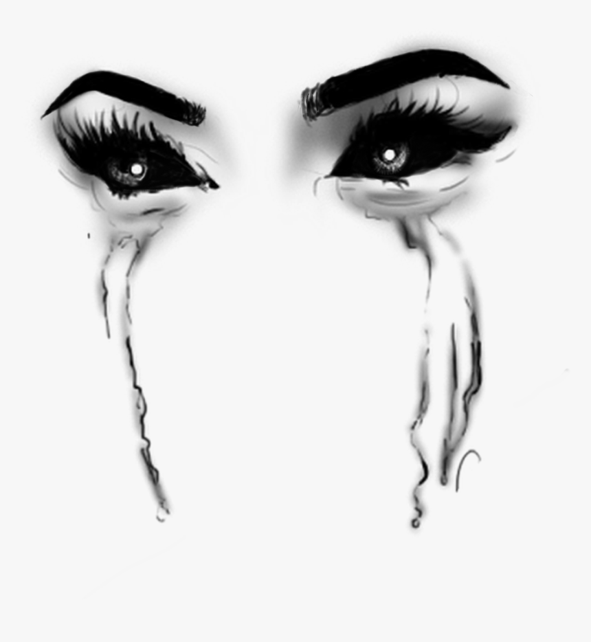Transparent Evil Eyes Clipart - Transparent Black Tears Png, Png Download, Free Download