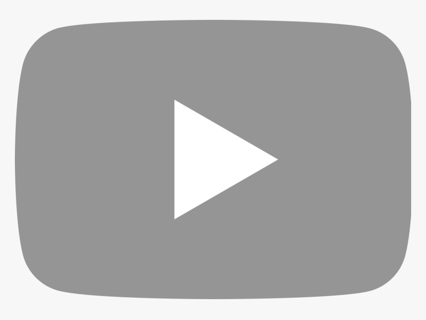 Grey Youtube Icon Svg, HD Png Download, Free Download