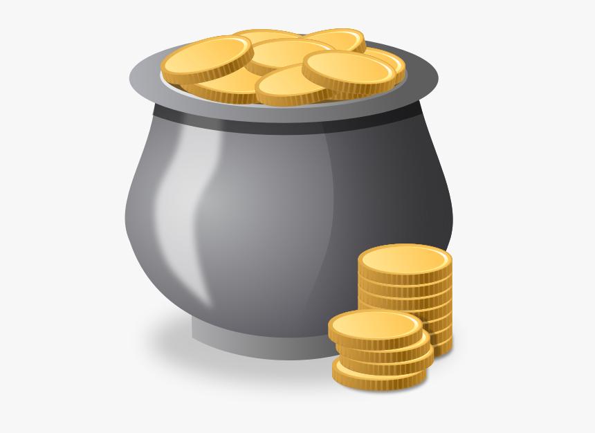 Money Pot Vector - Money Pot Clipart, HD Png Download, Free Download