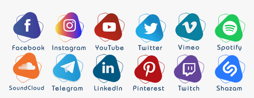 Social Media Icons Png Hd, Transparent Png, Free Download