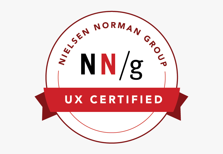 Ux Certification Badge From Nielsen Norman Group - Nielsen Norman Group Ux Certification, HD Png Download, Free Download