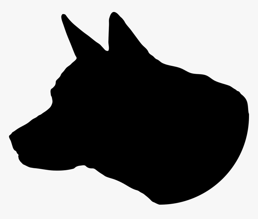 Silhouette Transparent Dog Head, HD Png Download, Free Download