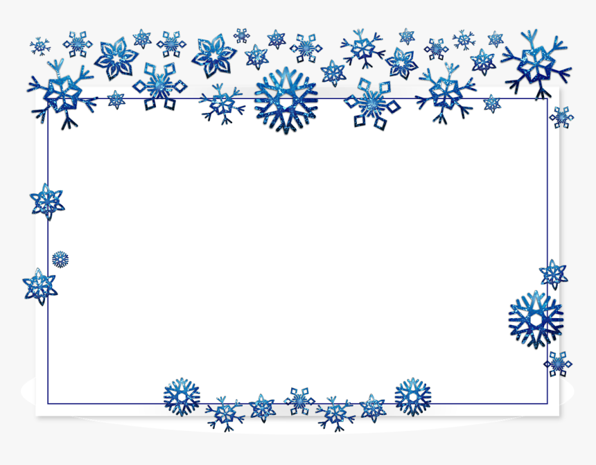 Christmas Borders Silver And Blue, HD Png Download, Free Download