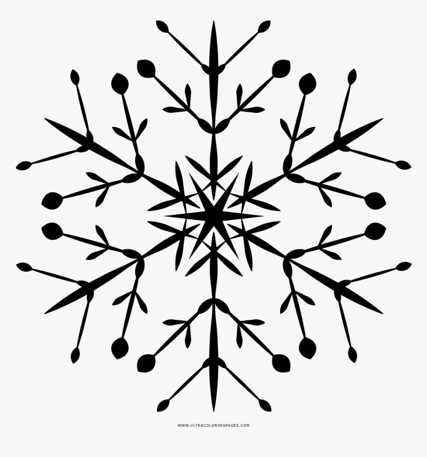 Snowflake Coloring Page - Snowflakes Outlones, HD Png Download