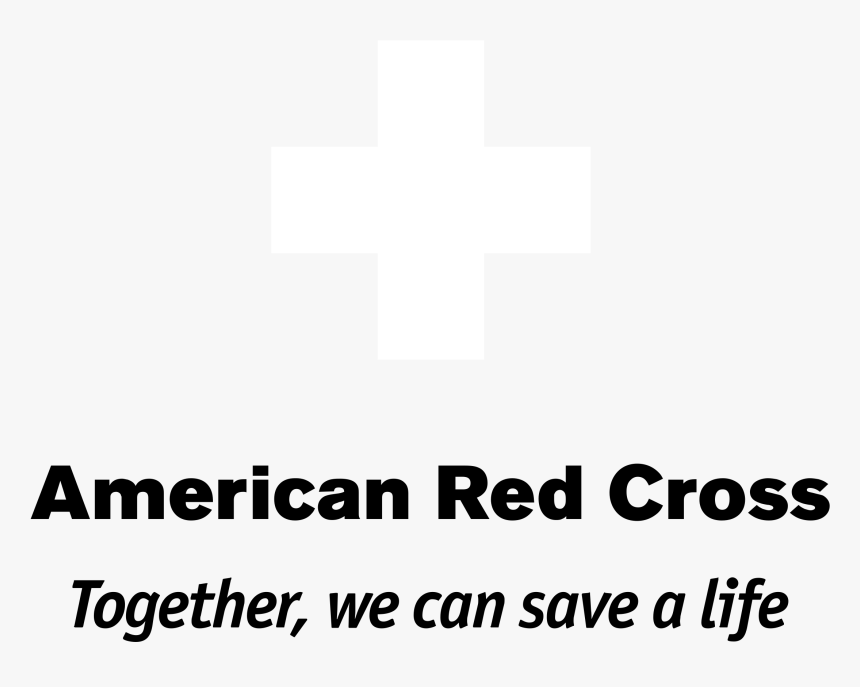 American Red Cross Logo Black And White - American Red Cross, HD Png Download, Free Download