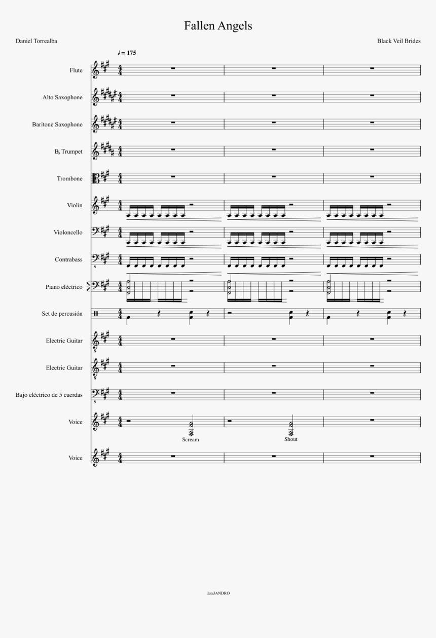Black Veil Brides Trumpet Sheet Music, HD Png Download, Free Download