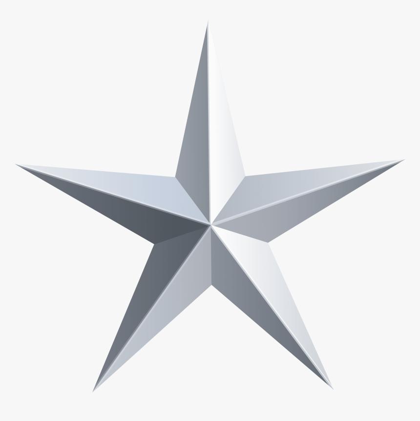 Silver Star Transparent Png Clip Art - Transparent Background Gold Star, Png Download, Free Download