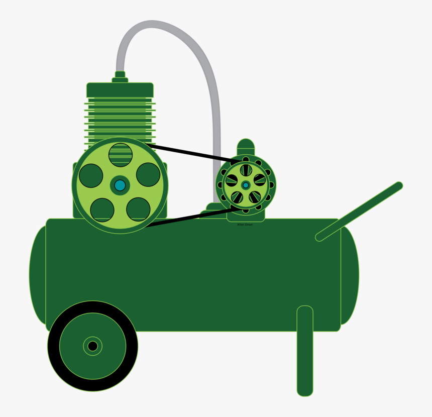 Vehicle,green,grass - Compressor Clipart, HD Png Download, Free Download