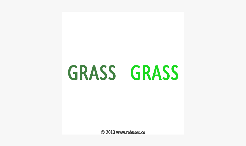 Green Grass Rebus Puzzle, HD Png Download, Free Download