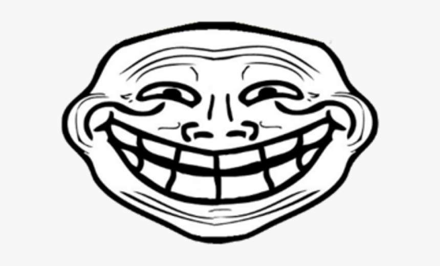Trollface Png Transparent Images Troll Face Front View Png Download Kindpng