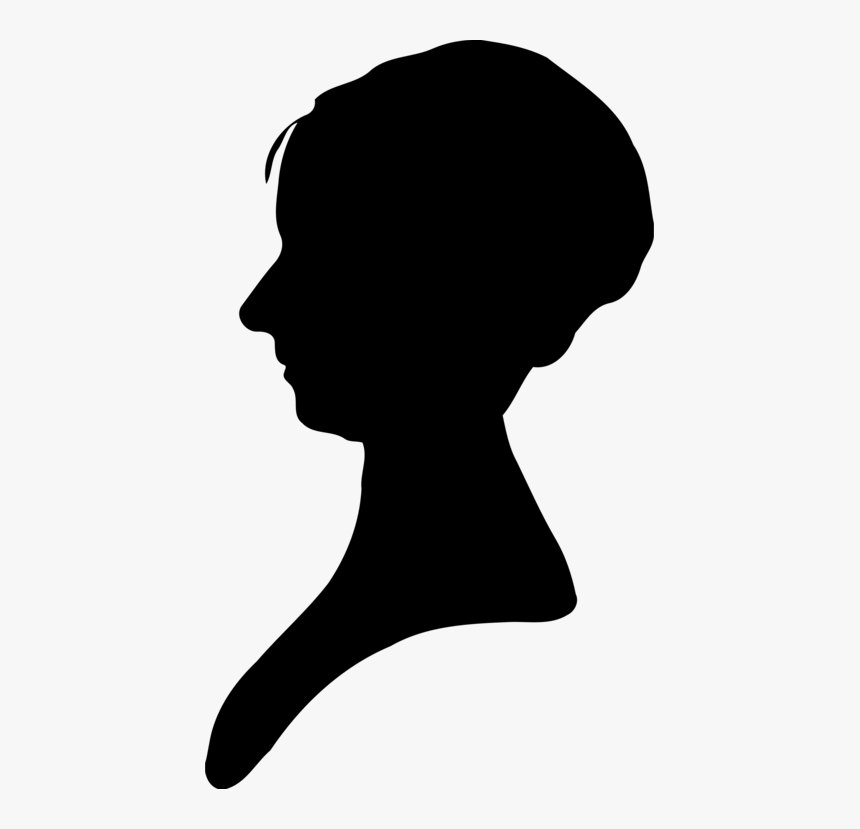 Head,silhouette,neck - Transparent Female Silhouette Png, Png Download, Free Download