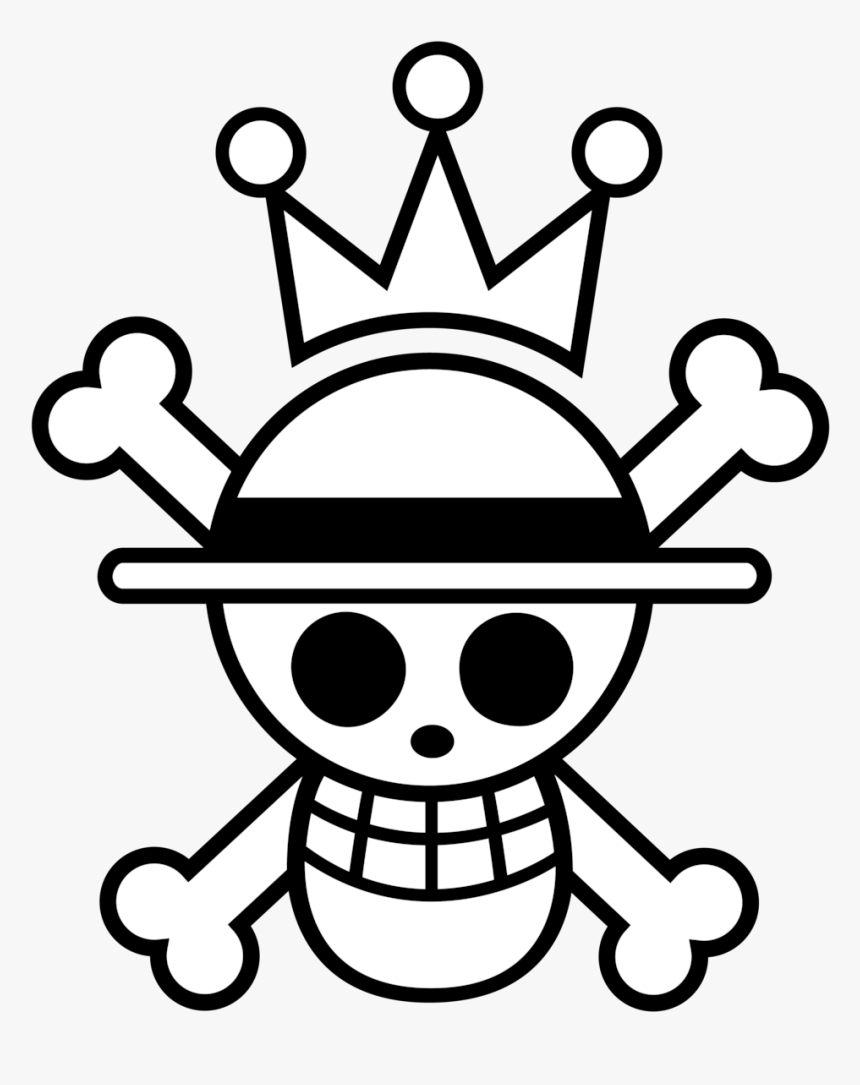Drawing Pirates Pirate Flag Clip Transparent Library - Jolly Roger One Piece Logo, HD Png Download, Free Download