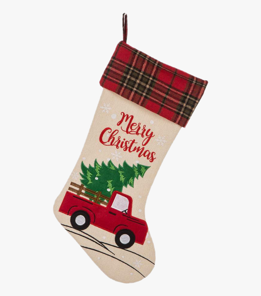 Christmas Stockings Png Free Download - Red Truck Christmas Stocking, Transparent Png, Free Download