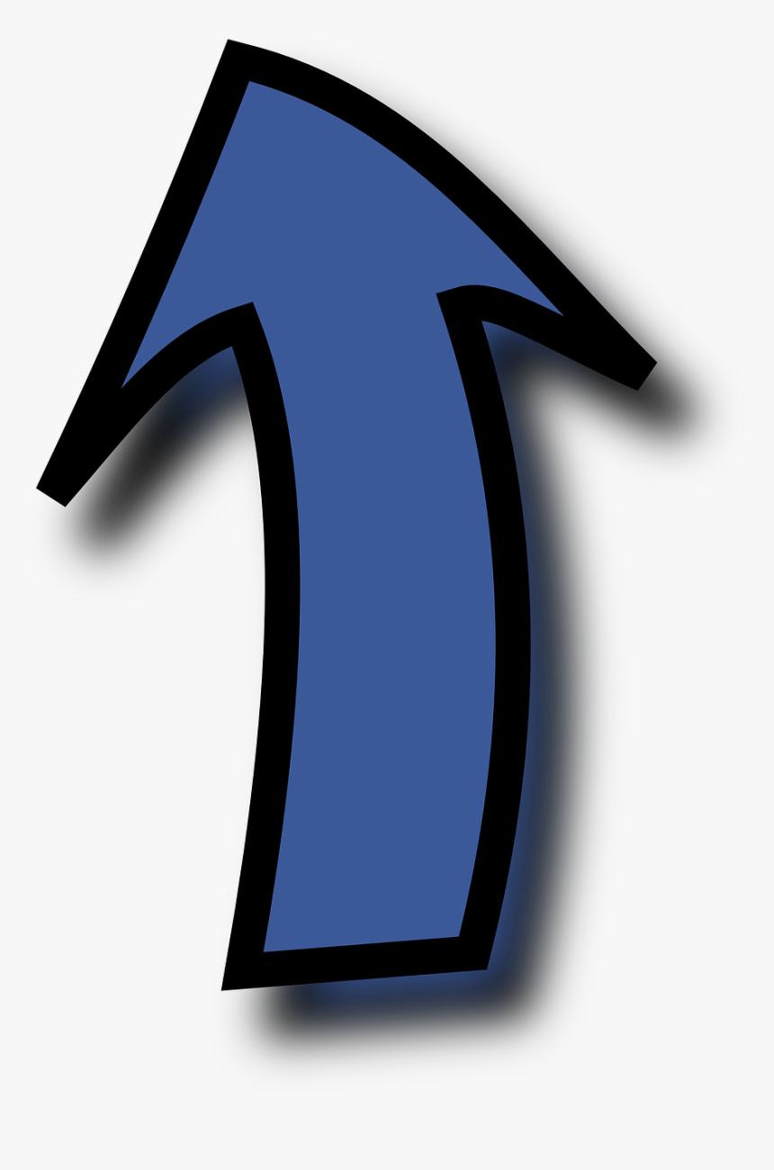 Blue Arrow Pointing Up - Arrow Cartoon Pointing Up, HD Png Download, Free Download