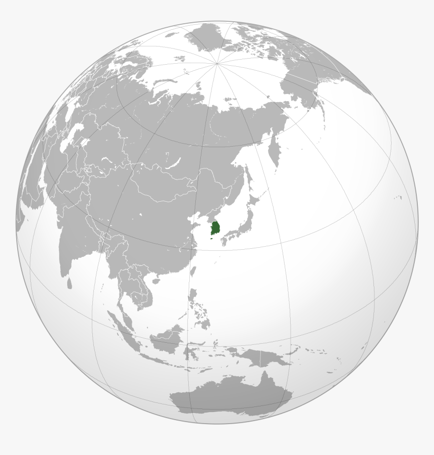Large Location Map Of South Korea - Japan World Map Png, Transparent Png, Free Download