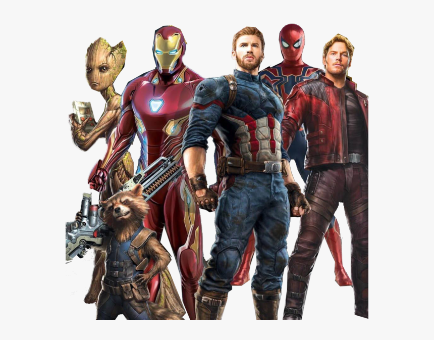 Star Lord America Clint Spider Man Barton Iron Captain - Avengers Infinity War Iron Man Captain America, HD Png Download, Free Download